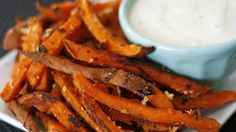 Sarah Caron from Sarah's Cucina Bella shares a recipe.   Delicious, garlicky homemade baked sweet potato fries? Yes please!