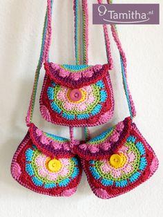 PATTERN Flowery Purse English USA crochet pattern pdf