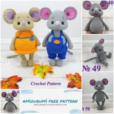 Crochet Animal Patterns, Stuffed Animal Patterns, Crochet Patterns Amigurumi, Crochet Animals, Doll Patterns, Dinosaur Stuffed Animal, Crochet Home, Crochet For Kids, Knit Crochet
