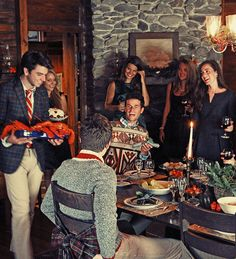 Ski lodge theme party inspiration for company winter party. Holiday Fashion, Party Fashion, Autumn Fashion, Preppy Fashion, Classic Fashion, Lobster Party, New England Prep, Reindeer Sweater, Classy Girl