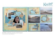 This project will show you how to create this stunning Castaway themed layout using masking techniques and stamping with Dylusions Paints. Scrapbook Designs, Scrapbooking Layouts, Travel Scrapbook, Scrapbook Pages, Christmas Scrapbook, Lawn Fawn, Beach Ideas, Workshop, Paper Crafts