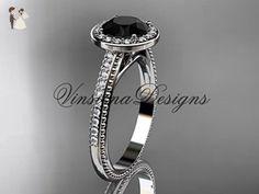 Platinum diamond engagement ring, Black Diamond VD10080 - Wedding and engagement rings (*Amazon Partner-Link)