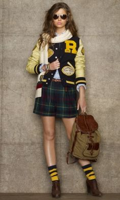 varsity-inspired fall fashion
