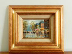 Vintage Paris Oil Painting Small Original Oil on by ModRendition