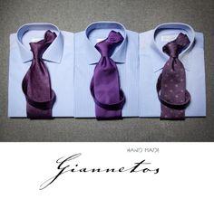 Χειροποίητα πουκάμισα 100% cotton Ιταλίας και γραβάτες 100% silk Ιταλίας απο 135€ το σετ.