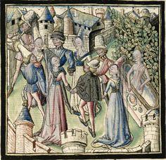 Cartonnier, Grenoble, Miniatures, Painting, 15th Century, Anonymous, Kleding, Painting Art, Paintings