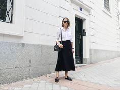 Trini | The Row skirt - Gucci Princetown loafers
