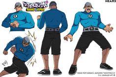 Crash McLarson's character design for the cartoons.