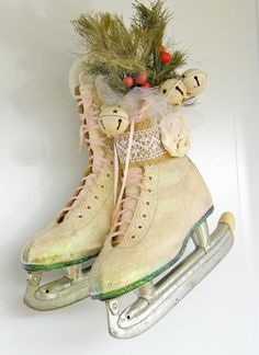 Love this idea for the door.  I do this with boys black skates because I have all boys