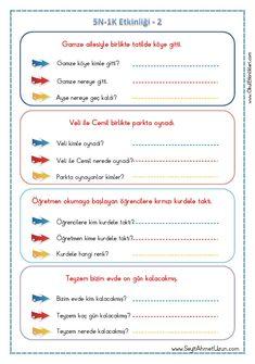 Preschool Printables, Preschool Worksheets, Preschool Activities, Learn Turkish, Turkish Language, Primary School, First Grade, Special Education, Classroom
