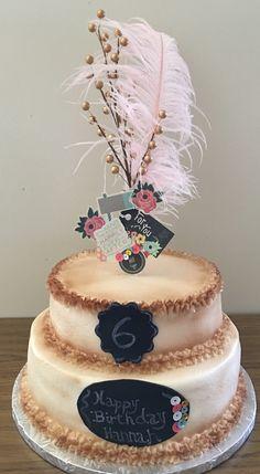 Fondant chalkboard cake design by Tya Mantooth