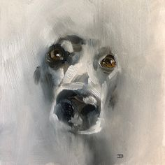 "Bella oil on board 4""x4"" by Julie Brunn"