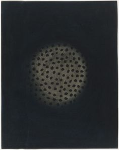 "Yayoi Kusama (Japanese, born 1929) Untitled (1952). Charcoal and ink on paper, 15 3/4 x 11 7/8"" (40 x 30 cm)."