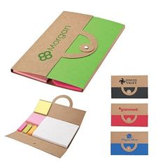 NEW Promotional Valumark VS1313 Recycled Note & Flag Set #logo #office #advertising #promoproducts | Customized EcoFriendly Notebooks | Promotional Valumark EcoFriendly Notebooks