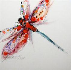 Sarah Rogers dragonfly art