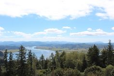 The view from the column in Astoria, OR