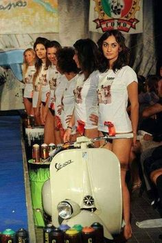 All the girls like a scooter.