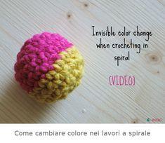 Come cambiare colore negli amigurumi e nei lavori a spirale a uncinetto.