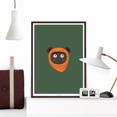 #FREE SHIPPING this christmas – ends 31 december. Enjoy! This is an archival print of my Ewok inspired poster, with a funny little twist, clean flat