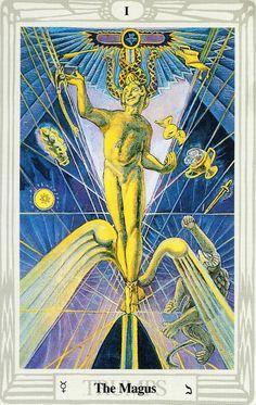 I - Le magicien - Tarot Thoth par Aleister Crowley
