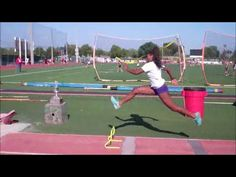 Triple jump for beginners taught by Keinan Briggs Jump Workout, Speed Workout, Track Workout, Exercise, Track And Field Events, Track Field, Track Drill, Elementary Pe, Triple Jump