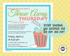 Throw Away Thursday Instant Download Social Media by PDZDesigns