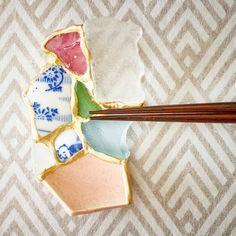 陶片を箸置きとしてよみがえらせる。日本人陶芸家の「金継ぎ」がNYへ   TABI LABO