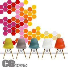 HEXAGON geometric honeycomb COLORFUL wall decal MODERN by CGhome, zł150.00