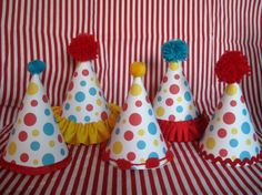 Table decor?     Circus Theme Party Hats, Set of 10