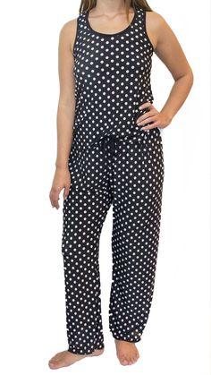 Black and White Polka Dots Pajama Pants Set