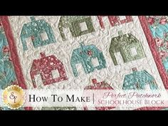 How to Make the Perfect Patchwork Schoolhouse Block Jelly Roll Quilt Patterns, Beginner Quilt Patterns, Star Quilt Patterns, Quilting For Beginners, Quilting Tutorials, Quilting Projects, Quilting Designs, Easy Patterns, Quilting Tips