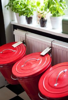 Pretty up the job of recycling by creating an attractive area for the task