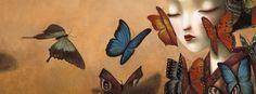 "Képtalálat a következőre: ""benjamin lacombe madame butterfly"" Madame Butterfly, Rooster, Oriental, Illustration, Painting, Inspiration, Fresco, Magic, Asian"