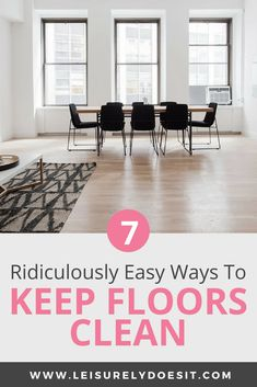 From hardwood or tile floors to carpet and area rugs, learning how to keep floors clean is easier than you think. Even with dogs or with kids in the house, it is possible to get spotless floors. Here are my best tips and tricks. Household Cleaning Schedule, Cleaning Schedule Printable, Deep Cleaning Tips, House Cleaning Tips, Cleaning Hacks, Cleaning Routines, Cleaning Checklist, Organizing Tips, Cleaning Solutions