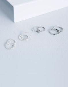 Bershka España - Set anillos luna