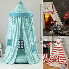 Go Undercover in These Inventive Play Spaces Sewing For Kids, Diy For Kids, Crafts For Kids, Kids Tents, Play Tents, Play Spaces, Baby Decor, Kids Bedroom, Kids Rooms
