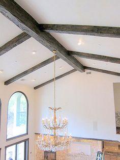 GORGEOUS ceiling Hand Hewn Oak Beams - Residence