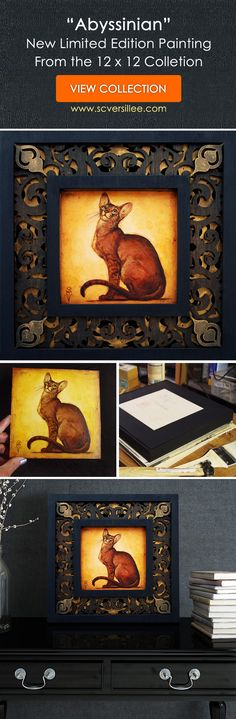 """""""Abyssinian"""" – Limited Edition Original Artwork - S. Small Paintings, Large Painting, Animal Paintings, Figure Painting, Abyssinian, Equine Art, Natural World, Metal Working, Giclee Print"""