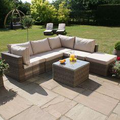 Furniture Village Garden Furniture square corner group - ascot - rattan effect garden furniture