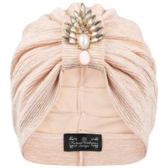 The Future Heirlooms Boutique Duchess Deco Jersey Turban (£30) ❤ liked on Polyvore featuring accessories, hats, pink, pink hat e turban hat