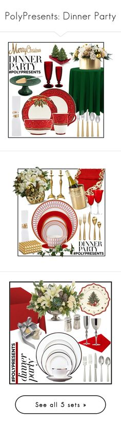 """""""PolyPresents: Dinner Party"""" by terryandjim ❤ liked on Polyvore featuring interior, interiors, interior design, home, home decor, interior decorating, Michael Aram, Table Art, Cutipol and Sur La Table"""
