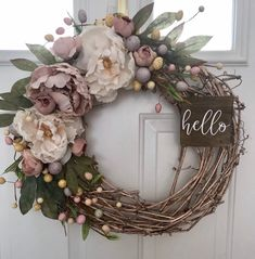 Excited to share this item from my – DEMO Diy Easter Decorations, Party Decoration, Easter Centerpiece, Spring Door Wreaths, Easter Wreaths, Welcome Wreath, Diy Wreath, Grapevine Wreath, Flower Arrangements