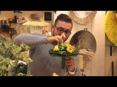 Славы Роска, мастер-класс большой букет на бумажном каркасе с розами латин помпон - YouTube