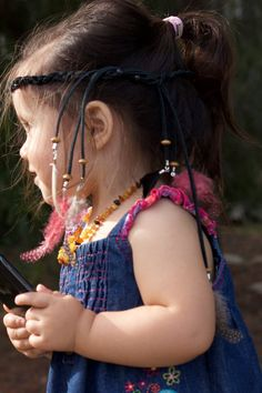 Feather headband for children: handmade feather head piece, native american indian headdress, boho hippie tribal jewelry, Children, toddlers
