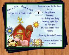 farm animal baby shower invitations | Farm Animals Baby Shower Invitations BSI174DIY 5.5 X 4.25 Editable ...