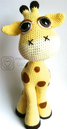Flick the Giraffe Amigurumi by MerakiCraftInc Etsy STore Shout Out! Cute as well! Excellent design!