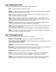 06 elements principles and styles of art definitions art terms pinterest art elements. Black Bedroom Furniture Sets. Home Design Ideas