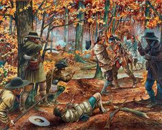 The battle of Point Pleasant,1774, was the only major engagement of Lord Dunmore's War,  Fought between the Virginia militia and the Shawnee in the Ohio Valley it was an American victory (the Shawnee were outnumbered three to one, and easily outflanked).  Upon their return to Virginia in 1775 the militia found that hostilities had now broken out with the British.
