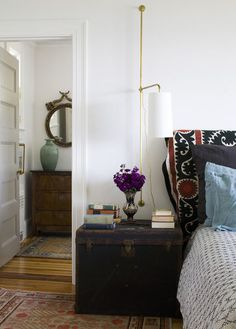 Houzz Tour: Scandinavian design in traditional Massachusetts home -  bedroom by Siemasko + Verbridge
