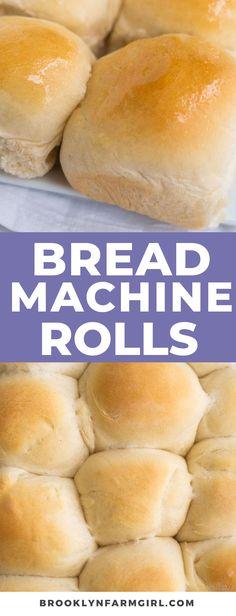 Dinner Rolls Bread Machine, Easy Bread Machine Recipes, Best Bread Machine, Bread Maker Recipes, Tasty Bread Recipe, Bread Machine Mixes, Bread Machines, Starter Recipes, Bun Recipe